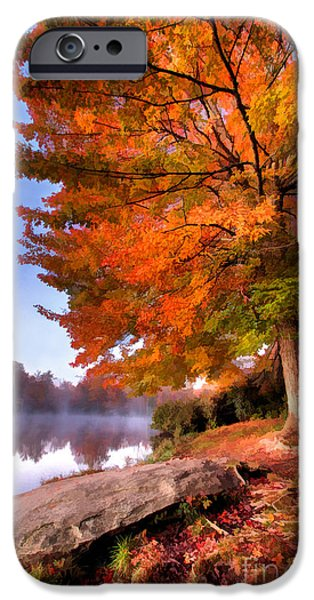 Recently Sold -  - Abstract Digital iPhone Cases - Peak of Color - Blue Ridge Parkway Price Lake iPhone Case by Dan Carmichael