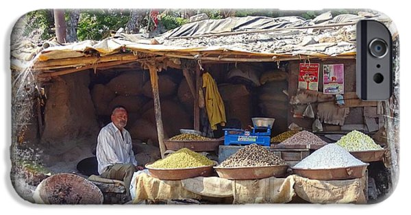 Shed iPhone Cases - Peanuts For Sale Indian Rajasthani Village iPhone Case by Sue Jacobi