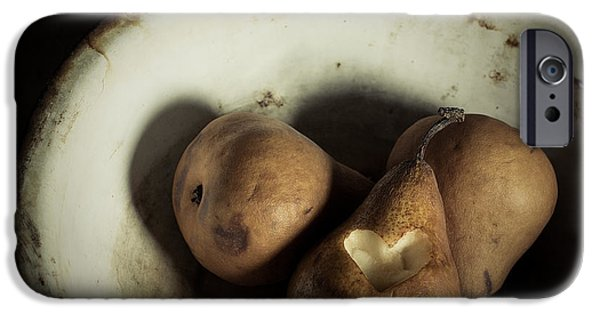Rust iPhone Cases - Pear Love iPhone Case by Amy Weiss