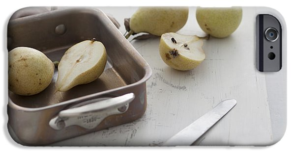 Pears Pyrography iPhone Cases - Pear iPhone Case by Nataly Cadavid