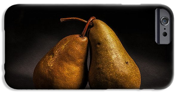 Pears iPhone Cases - Pear of Lovers iPhone Case by Peter Tellone