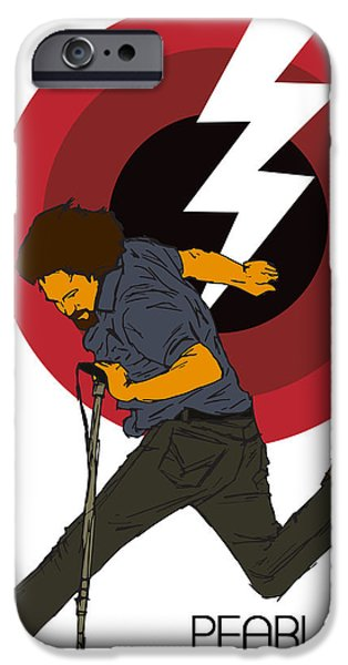 Jam Digital iPhone Cases - Pearl Jam Lightning Bolt iPhone Case by Tomas Raul Calvo Sanchez