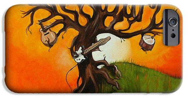 Pearl Jam Paintings iPhone Cases - Pearl Jam Tree iPhone Case by Tarah Davis