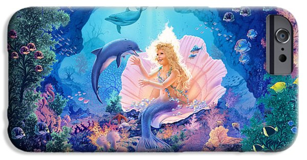 Marine iPhone Cases - Pearl Princess Variant 1 iPhone Case by Steve Read