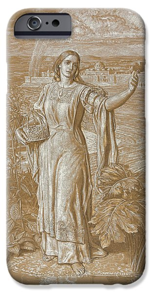 Robe Drawings iPhone Cases - Pearl iPhone Case by William Holman Hunt