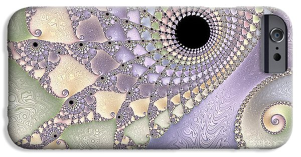 Fractal Photographs iPhone Cases - Pearlized  iPhone Case by Heidi Smith