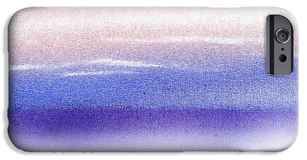Abstractions iPhone Cases - Pearly Sky Abstract I iPhone Case by Irina Sztukowski