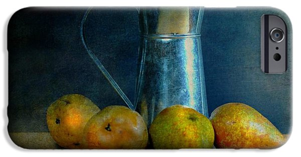 Still Life With Pitcher iPhone Cases - Pears and Pitcher iPhone Case by Diana Angstadt
