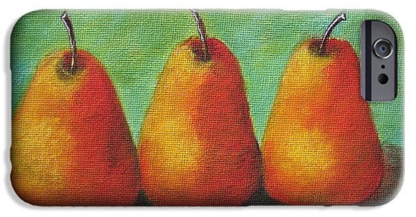 Pear Tree Paintings iPhone Cases - Pears iPhone Case by Beverly Livingstone