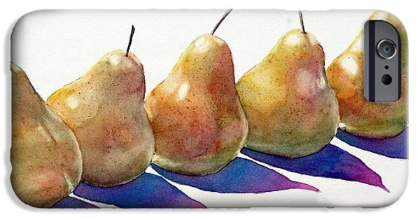 Pears iPhone Cases - Pears I iPhone Case by Linda Halom