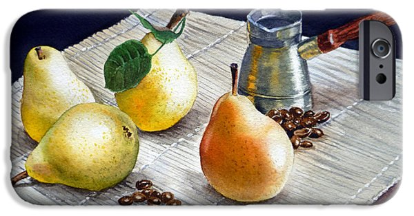 Pears Paintings iPhone Cases - Pears iPhone Case by Irina Sztukowski