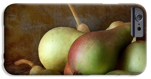 Interior Still Life iPhone Cases - Pears on a plate  iPhone Case by Artskratches