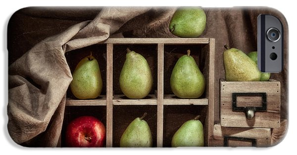 Abundance iPhone Cases - Pears on Display Still Life iPhone Case by Tom Mc Nemar