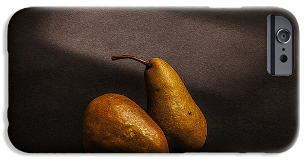 Pears iPhone Cases - Pears iPhone Case by Peter Tellone