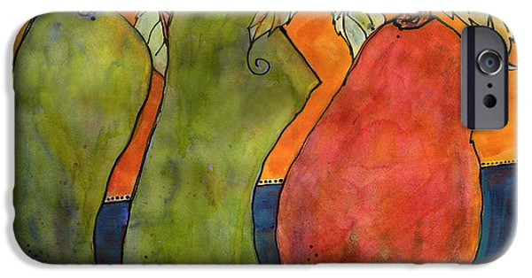 Pears iPhone Cases - Pears Surrealism Art iPhone Case by Blenda Studio