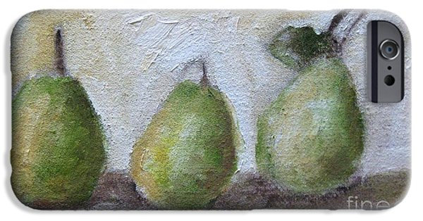 Fruit Tree Art Giclee iPhone Cases - Pears iPhone Case by Venus