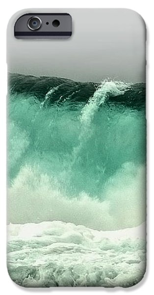Pebble Beach Crashing Wave iPhone Case by Artist and Photographer Laura Wrede