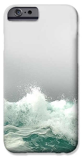 Pebble Beach in the Fog iPhone Case by Artist and Photographer Laura Wrede