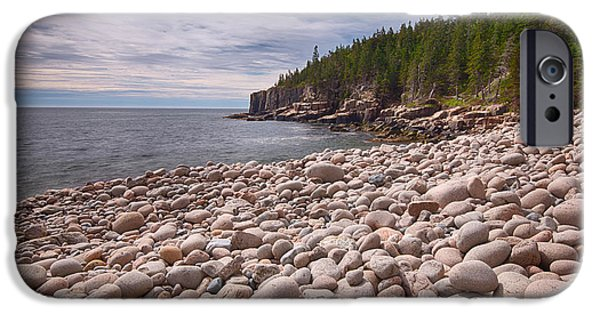 Maine iPhone Cases - Pebbles On The Beach, Cobblestone iPhone Case by Panoramic Images