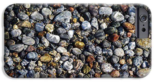 Pebbles iPhone Cases - Pebbles under water iPhone Case by Elena Elisseeva