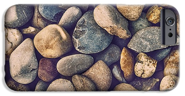 Pebbles iPhone Cases - Pebbles iPhone Case by Wim Lanclus