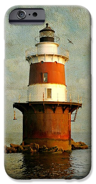 New England Lighthouse iPhone Cases - Pecks Ledge  iPhone Case by Diana Angstadt