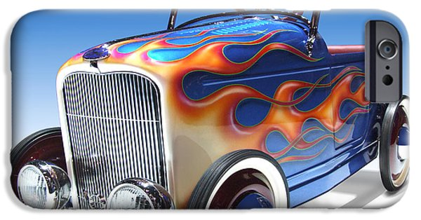 Lights Digital iPhone Cases - Peddle Car iPhone Case by Mike McGlothlen