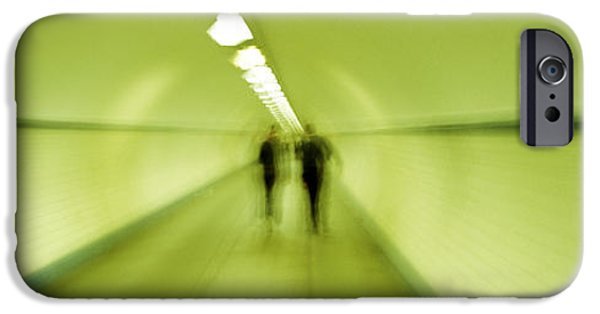 Eerie iPhone Cases - Pedestrian Tunnel, Blurred Motion iPhone Case by Panoramic Images