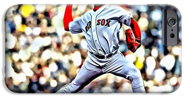 Boston Red Sox iPhone Cases - Pedro Martinez iPhone Case by Florian Rodarte
