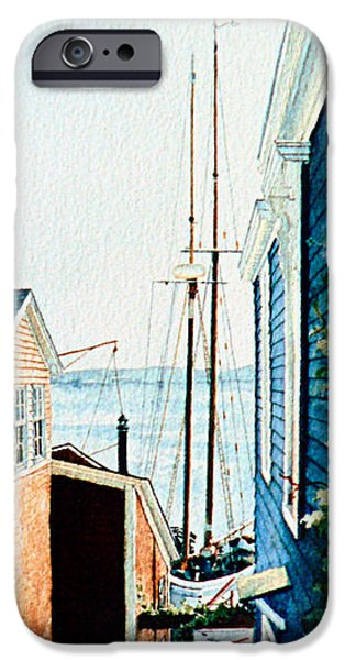 East Village iPhone Cases - Peek At The Bluenose iPhone Case by Hanne Lore Koehler