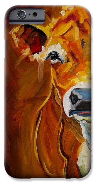 Farm iPhone Cases - Peek Cow iPhone Case by Diane Whitehead