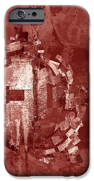 Red Abstract iPhone Cases - Peek iPhone Case by GP Images