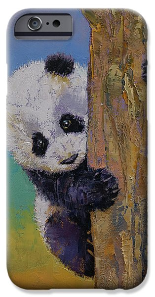 Enfants iPhone Cases - Peekaboo iPhone Case by Michael Creese