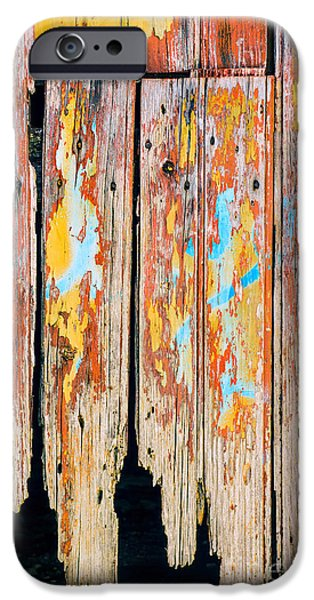 Ruin iPhone Cases - Peeling Door iPhone Case by Carlos Caetano
