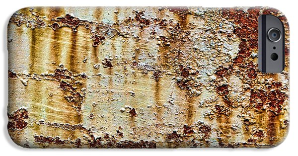 Rust iPhone Cases - Peeling  iPhone Case by Olivier Le Queinec