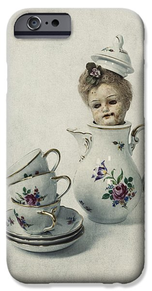 Teapots iPhone Cases - Peep-bo iPhone Case by Joana Kruse