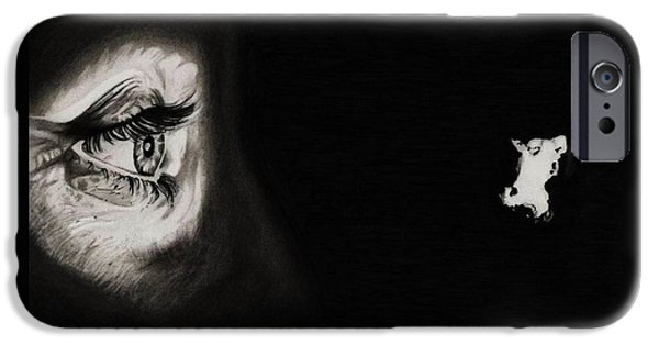 Bates iPhone Cases - Peeping Tom - Psycho iPhone Case by Fred Larucci
