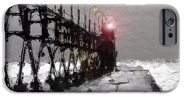 Lighthouse Mixed Media iPhone Cases - Peer to the lighthouse iPhone Case by Stefan Kuhn