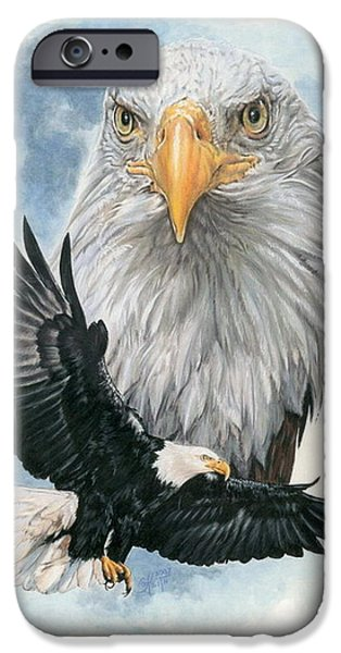 Mixed Media iPhone Cases - Peerless iPhone Case by Barbara Keith