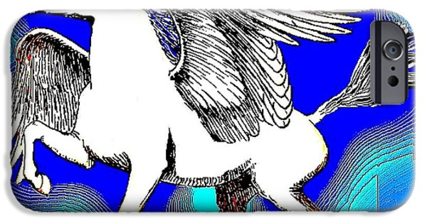 Freedom iPhone Cases - Pegasus iPhone Case by Dave Gafford