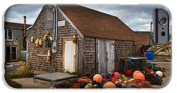 Grey Clouds Photographs iPhone Cases - Peggys Cove 15 iPhone Case by Betsy A  Cutler