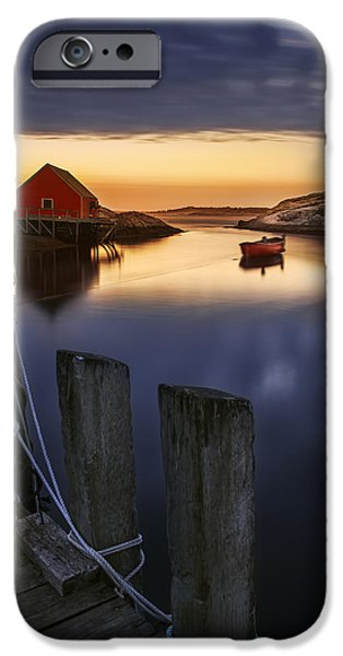 Maritime iPhone Cases - Peggys Cove Harbour iPhone Case by Magda  Bognar