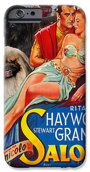 Pekingese iPhone Cases - Pekingese Art - Salome Movie Poster iPhone Case by Sandra Sij