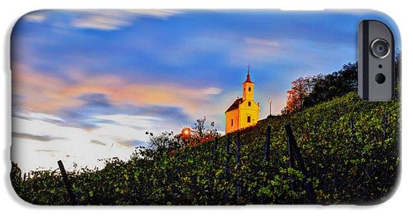 Wine Vault iPhone Cases - Pekrska gorca hill iPhone Case by Ivan Slosar