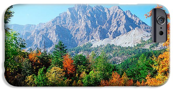 Mountain iPhone Cases - Pelens Needle In Autumn, French iPhone Case by Panoramic Images