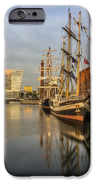 Tall Ship iPhone Cases - Pelican and Mercedes tall ships iPhone Case by Paul Madden