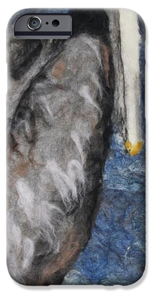 Needle Tapestries - Textiles iPhone Cases - Pelican iPhone Case by Kyla Corbett