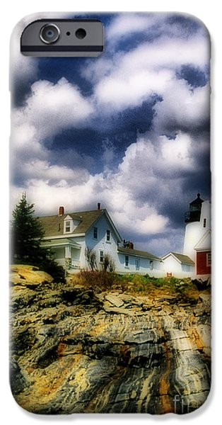 Pemaquid Lighthouse iPhone Cases - Pemaquid Fantasy iPhone Case by Skip Willits