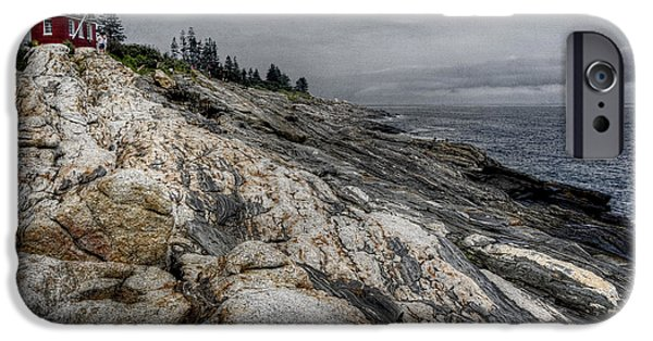New England Lighthouse iPhone Cases - Pemaquid Light iPhone Case by Joan Carroll