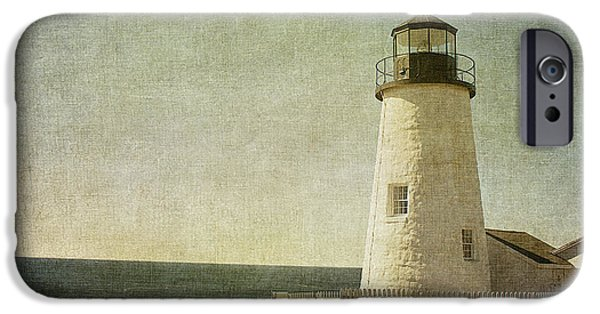 Pemaquid Lighthouse iPhone Cases - Pemaquid Lighthouse 2 iPhone Case by Cindi Ressler